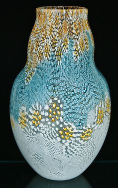 Murrini Vase: Michael Egan: Art Glass Vase | Artful Home
