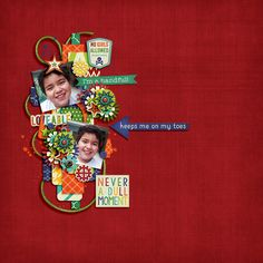 Digital Scrapbook Page by Keley | Loud and Loveable by Bella Gypsy