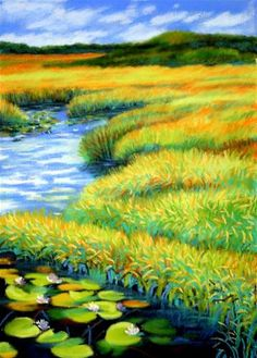 """Where the Lilies Grow"" - Original Fine Art for Sale - © Jill Bates"