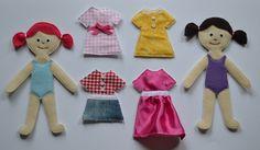felt doll template | Felt dolls