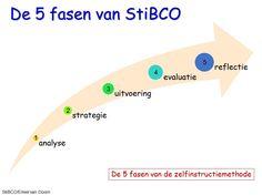 Zelfinstructie methode Meichenbaum en de beren van StiBCO Emiel van Doorn. Deze zijn weer gegeven in 5 fasen.