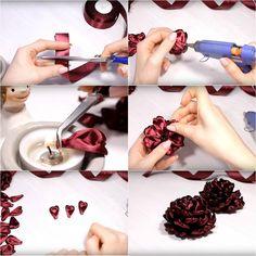 Egy ügyeskezű asszony ilyen gyönyörű kézműves termékeket készített atlasz szalagból. Ezt egészen biztosan én is kipróbálom! - Bidista.com - A TippLista!