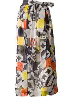 MSGM Belted Geometric Print Skirt. #msgm #cloth #skirt