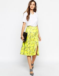 e37d562e8e34e Whistles Skirt with Double Split at asos.com