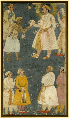 Emperor Jahangir receiving a petition from a fakir whilst Man Singh below looks on Mughal Architecture, Art And Architecture, First Battle Of Panipat, Mughal Miniature Paintings, Sufi Saints, Oriental, Vintage India, Mughal Empire, British Museum