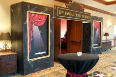 Entrance to cocktail reception-Old Hollywood Theme  Contact-Andrea@eventservicesofamerica.com