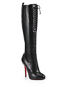Christian Louboutin - Lamadone Leather Knee-High Boots   FW 2014   cynthia reccord