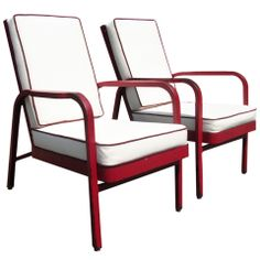 Jules Leleu amp; Ateliers Jean Prouve Lacquered Chairs