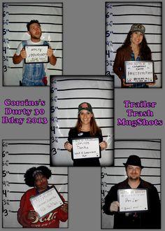 White Trash/Redneck Mugshot Party Favor