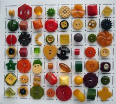 A marvelous collection of vintage Bakelite sewing buttons.