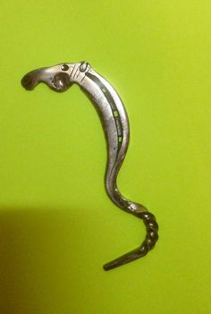 Hoof pick hand forged horse head & twist by HorseShoeBarn on Etsy, $20.00