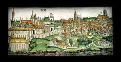 A középkori Buda látképe Zsigmond korában