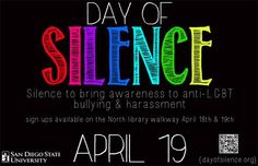 National Day of Silence; April 15