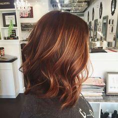 Gorgeous melted auburn balayage by Chrissy Cunningham IG: bychrissycunningham (Dyed Hair Auburn)