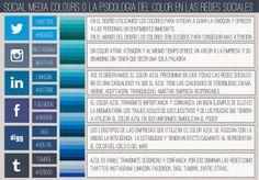 Azul es el color más usado en los logos de las redes sociales