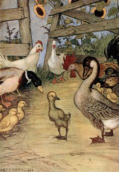 'The Ugly Duckling' an illustration from 'Hans Andersen Fairy Tales' – Illustrated by Milo Winter http://www.amazon.com/gp/product/1445508672/ref=as_li_tl?ie=UTF8&camp=1789&creative=9325&creativeASIN=1445508672&linkCode=as2&tag=reaboo09-20&linkId=UC6UO7ESJVQMDEIZ