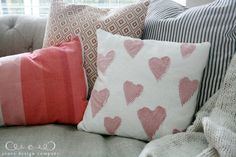 Adorable Valentines pillow to make - Jones Design Co.