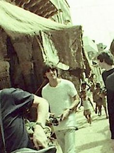 7th July 1966. George and Paul go sightseeing in India during The Beatles stopover.