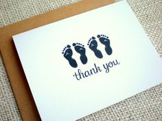 Twins Thank You Cards - Set of 10 Gender Neutral Thank You Notes - Baby Shower Twin Footprints Thank You Cards - Simple Cute Twin Footprints Elephant First Birthday, Baby Girl Birthday Dress, Baby Girl Themes, Boy Baby Shower Themes, Baby Thank You Cards, Baby Cards, Diy Nursery Furniture, Homemade Baby Toys, Baby Announcement Pictures