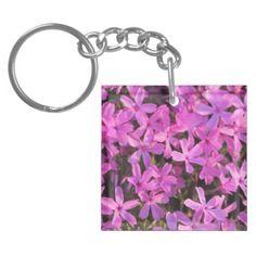 Pretty Purple Flowers Keychain