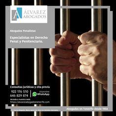 Abogados penalistas especialistas derecho penal: Delitos contra las personas, delitos contra el patrimonio, delitos de lesiones y secuestro, delito de agresiones sexuales, calumnias e injurias, sustracción o secuestro de menores, delitos relativo a los consumidores, receptación y blanqueo de capitales, tráfico de influencias, delito contra la seguridad vial, etc. http://alvarezabogadostenerife.com/?p=13089 #derechopenal #abogadostenerife #delitos