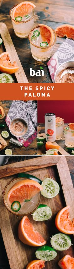 This Spicy Paloma cocktail is the best way to turn up the heat on any occasion. With flavor that gets jal-ap-eño your taste buds face. Must be Please drink responsibly. Tequila Sunrise, Fancy Drinks, Summer Drinks, Cocktails, Cocktail Recipes, Paloma Cocktail, Healthy Drinks, Healthy Recipes, Happy Drink