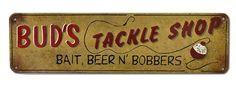 Bud's Tackle Shop Sign