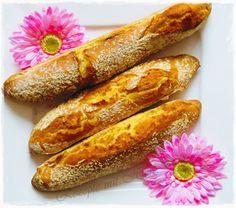 Zutaten für 3 grosse Baguettes 400 g Mehl 550 1/4 Stück Hefewürfel 320 g Wasser 2 TL Salz Alle Zutaten in den Mixtopf geben und 45 Sek./Teigknetstufe verrühren. Den recht flüssigen Teig in ei