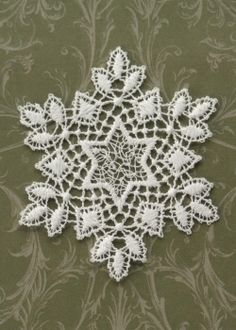Christmas Snowflake Ornament. #holiday #decor #tree #lace