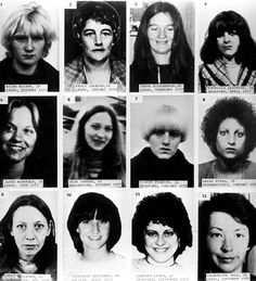12 of the 13 victims of Peter Suttcliffe The Yorkshire Ripper