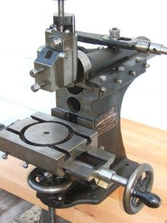 Drummond benchtop manual shaper, about 1908.