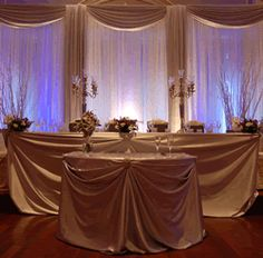 Awesome sticks and look of head table