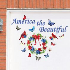 America the Beautiful Patriotic Garage Magnets