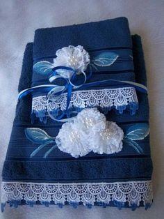 toalhas de banho com renda - Recherche Google