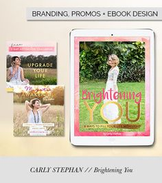 Brightening You eBook by Carly Stephan - designed by Alana Wimmer | Raspberry Stripes