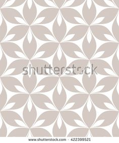 Vector seamless pattern. Monochrome graphic design. Decorative geometric pastel print with leaves. Regular floral background with elegant petals. Modern stylish ornament.
