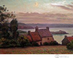Charles Victor Guilloux 1886-1946 Clair de lune en Bretagne ca 1910