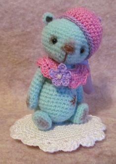 Crochet Pattern for Opal a Thread Artist Teddy Bear  by BayouBears