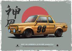 """""""Zaporozhets"""" ZAZ-969 coupe Japanese style on Behance"""