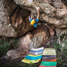 Down under Niky Ceria climbs up. Photo: Simon Carter #livewithoutlimits #bouldering #terrex