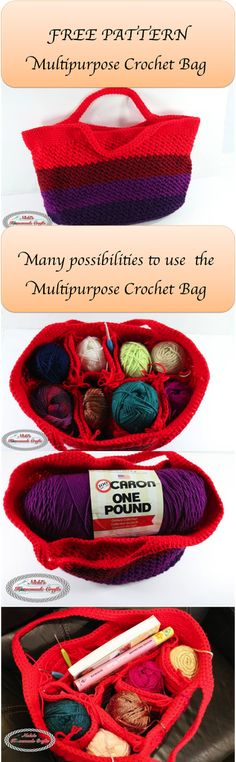 This Multipurpose Crochet Bag Is The Perfect Yarn Organizer