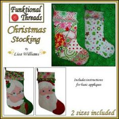 Funktional Threads Christmas Stocking - in 2 sizes | Sewing Pattern | Free | YouCanMakeThis.com