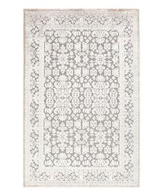 Another great find on #zulily! Ivory & Gray Transitional Rug by Jaipur Rugs #zulilyfinds