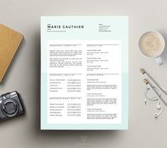 Modern Resume Template and Clean Cover Letter Template for MS Word & iWork Pages
