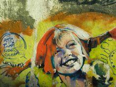 Graffiti de Pippi Långstrump ( pipi calzaslargas ) by pili_stage, via Flickr