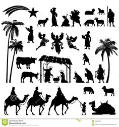 bethlehem silhouette patterns download - Google Search