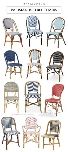 Parisian bistro chairs, the ones you see lining dreamy French cafés, have long been on my list of must-have items. I don't have room for them in our house but with a new cottage to shop for, you can b