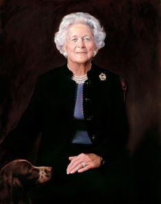 First Lady. Barbara Pierce Bush and mother of President George H. Barbara Pierce Bush, Barbara Bush, Laura Bush, First Lady Of America, Us First Lady, Presidents Wives, American Presidents, American History, Republican Presidents