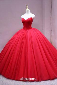 Pretty Quinceanera Dresses, Pretty Prom Dresses, Sweet 16 Dresses, Special Dresses, Elegant Dresses, Cute Dresses, Red Wedding Gowns, Barbie Wedding Dress, Colored Wedding Dresses