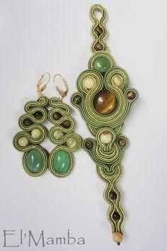 soutache bracelet and earrings